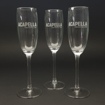 champagne glas gegraveerd