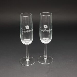 champagneglas 23cl gegraveerd