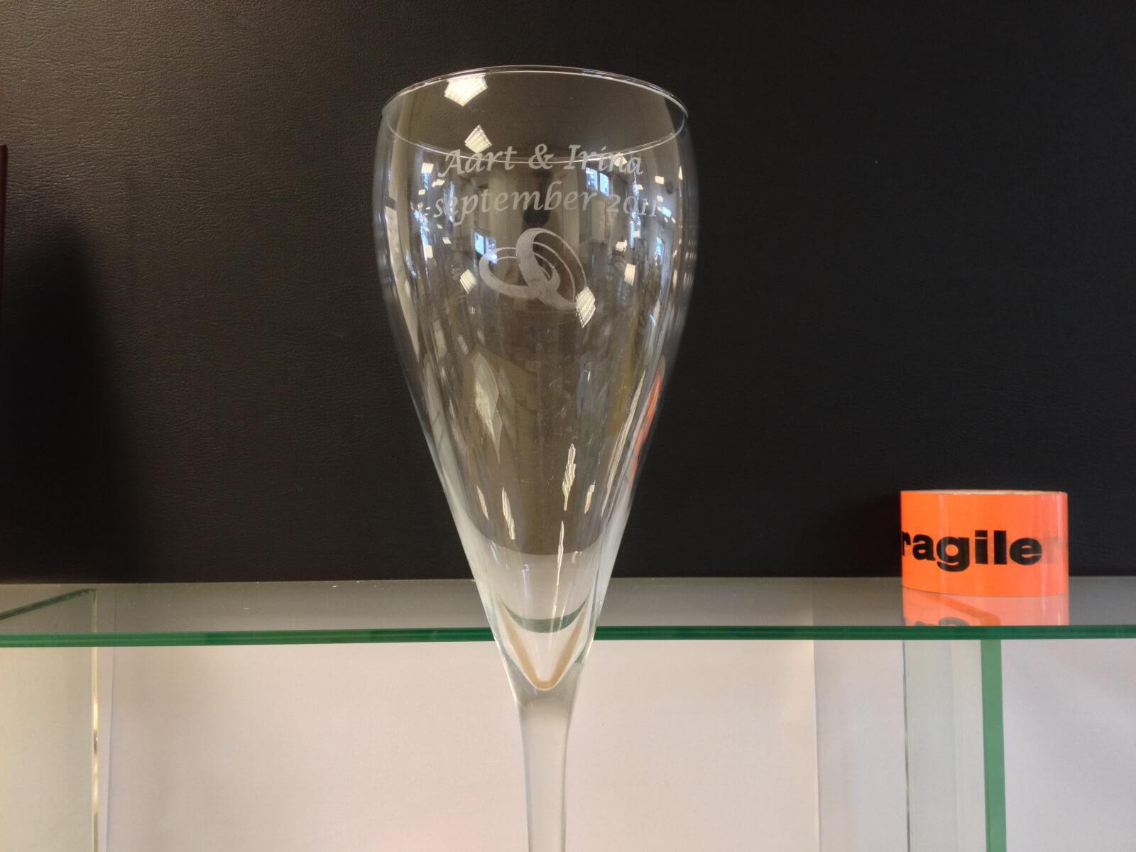 Champagneglas 40 cm hoog