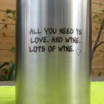 wijnkoeler graveren