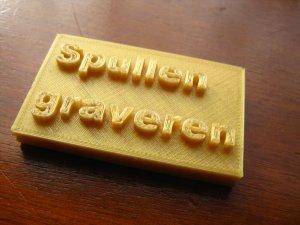 naambordje uit de 3D printer