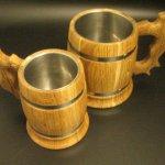 bierpullen van hout