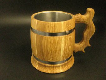 houten bierpul 33cl