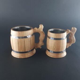 houten bierpul niet gegraveerd