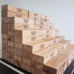 display houder van hout